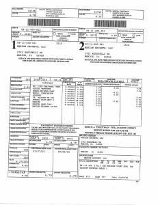 Exhibit A Tax-Bills Tax Record Cards Williamson County-illinois Il Property Tax Fraud 0528