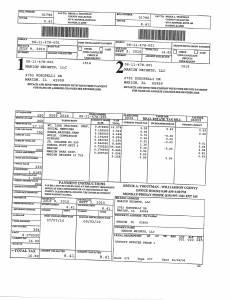 Exhibit A Tax-Bills Tax Record Cards Williamson County-illinois Il Property Tax Fraud 0529
