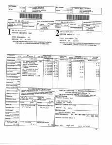 Exhibit A Tax-Bills Tax Record Cards Williamson County-illinois Il Property Tax Fraud 0539