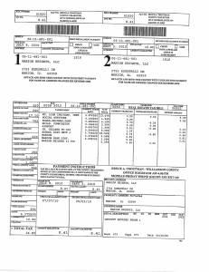 Exhibit A Tax-Bills Tax Record Cards Williamson County-illinois Il Property Tax Fraud 0553