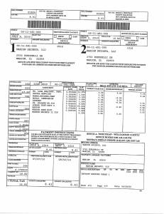 Exhibit A Tax-Bills Tax Record Cards Williamson County-illinois Il Property Tax Fraud 0557