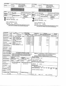 Exhibit A Tax-Bills Tax Record Cards Williamson County-illinois Il Property Tax Fraud 0570