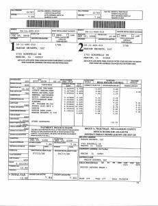 Exhibit A Tax-Bills Tax Record Cards Williamson County-illinois Il Property Tax Fraud 0635