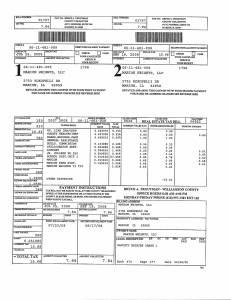 Exhibit A Tax-Bills Tax Record Cards Williamson County-illinois Il Property Tax Fraud 0645