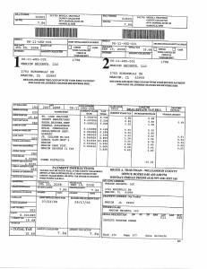 Exhibit A Tax-Bills Tax Record Cards Williamson County-illinois Il Property Tax Fraud 0651