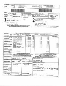 Exhibit A Tax-Bills Tax Record Cards Williamson County-illinois Il Property Tax Fraud 0653