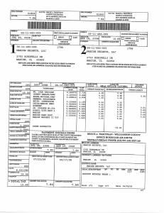 Exhibit A Tax-Bills Tax Record Cards Williamson County-illinois Il Property Tax Fraud 0654
