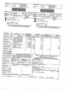 Exhibit A Tax-Bills Tax Record Cards Williamson County-illinois Il Property Tax Fraud 0657