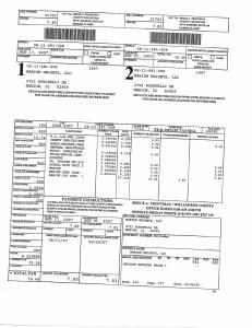 Exhibit A Tax-Bills Tax Record Cards Williamson County-illinois Il Property Tax Fraud 0686