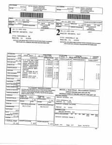 Exhibit A Tax-Bills Tax Record Cards Williamson County-illinois Il Property Tax Fraud 0695