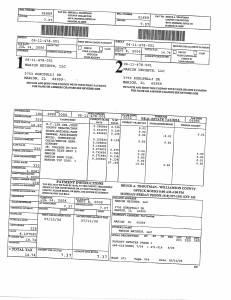 Exhibit A Tax-Bills Tax Record Cards Williamson County-illinois Il Property Tax Fraud 0697