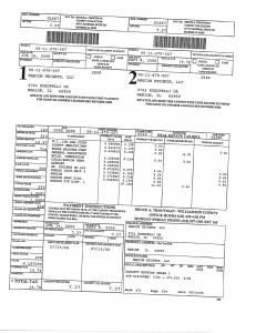 Exhibit A Tax-Bills Tax Record Cards Williamson County-illinois Il Property Tax Fraud 0705