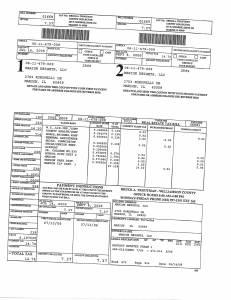 Exhibit A Tax-Bills Tax Record Cards Williamson County-illinois Il Property Tax Fraud 0707