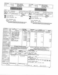 Exhibit A Tax-Bills Tax Record Cards Williamson County-illinois Il Property Tax Fraud 0708
