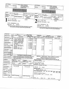 Exhibit A Tax-Bills Tax Record Cards Williamson County-illinois Il Property Tax Fraud 0709