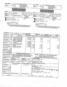 Exhibit A Tax-Bills Tax Record Cards Williamson County-illinois Il Property Tax Fraud 0718