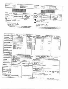 Exhibit A Tax-Bills Tax Record Cards Williamson County-illinois Il Property Tax Fraud 0721